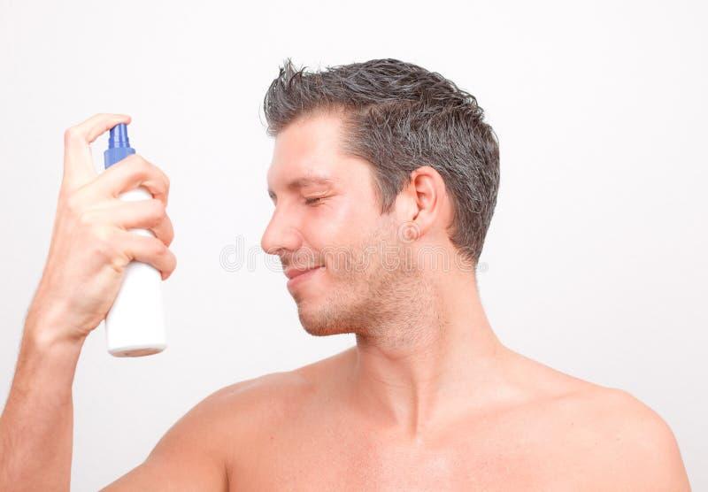 uomo cosmetico fotografie stock