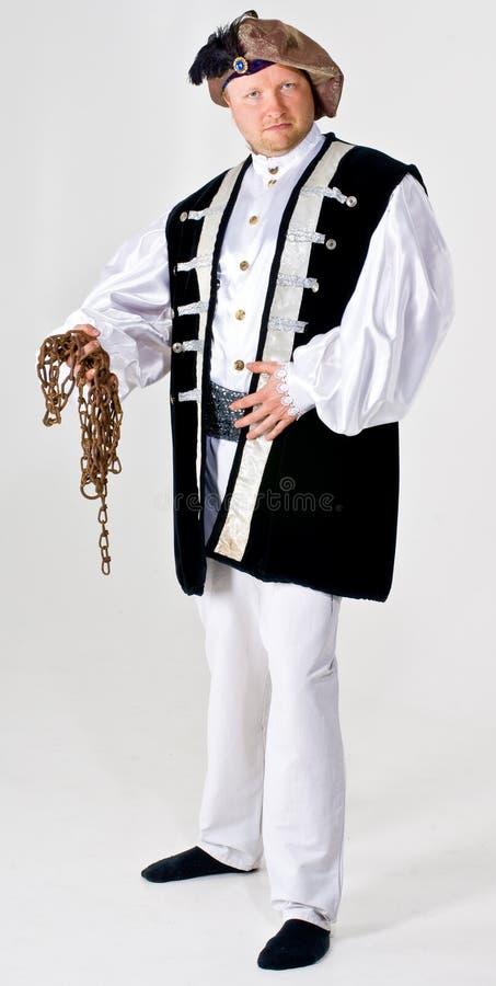 Uomo in costume del proprietario immagini stock libere da diritti