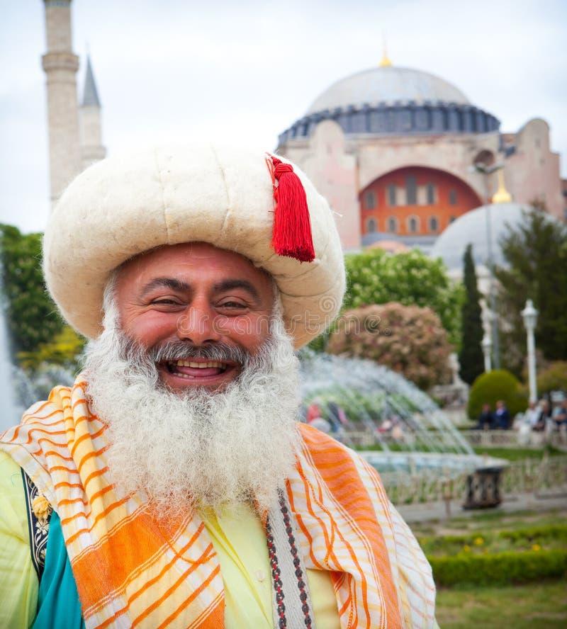 Uomo in costume turco d'annata tradizionale fotografie stock