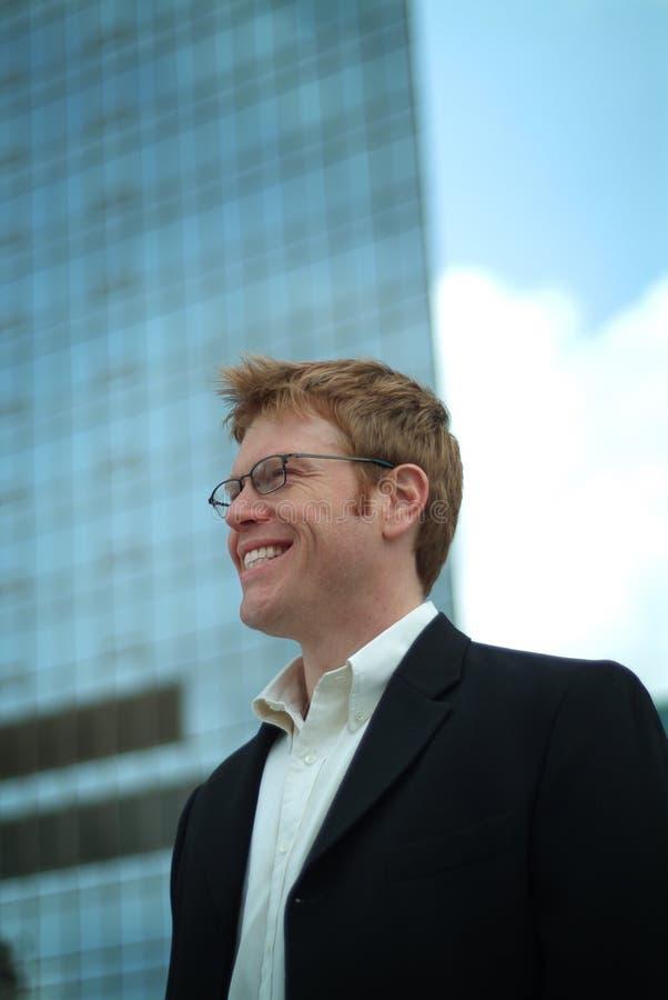 Download Uomo d'affari fotografia stock. Immagine di nubi, downtown - 202196