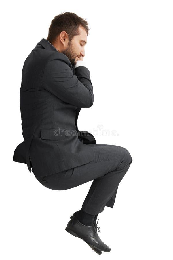 Uomo d'affari addormentato stanco fotografia stock