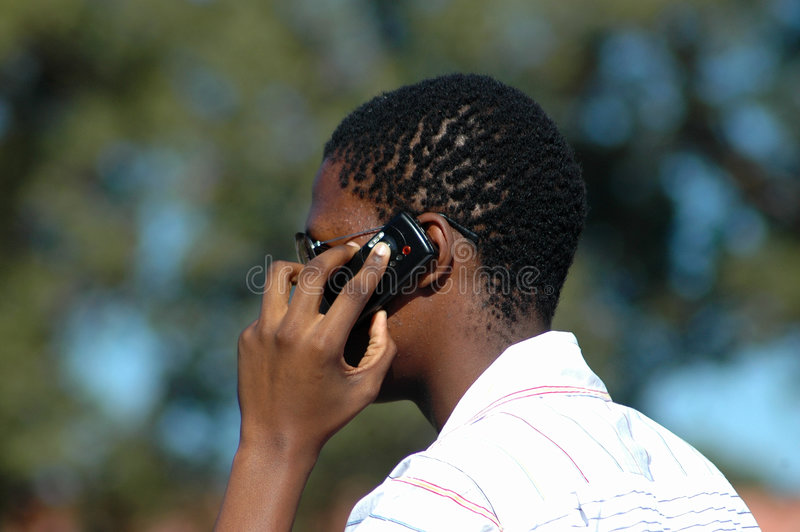 Uomo d'affari africano immagine stock