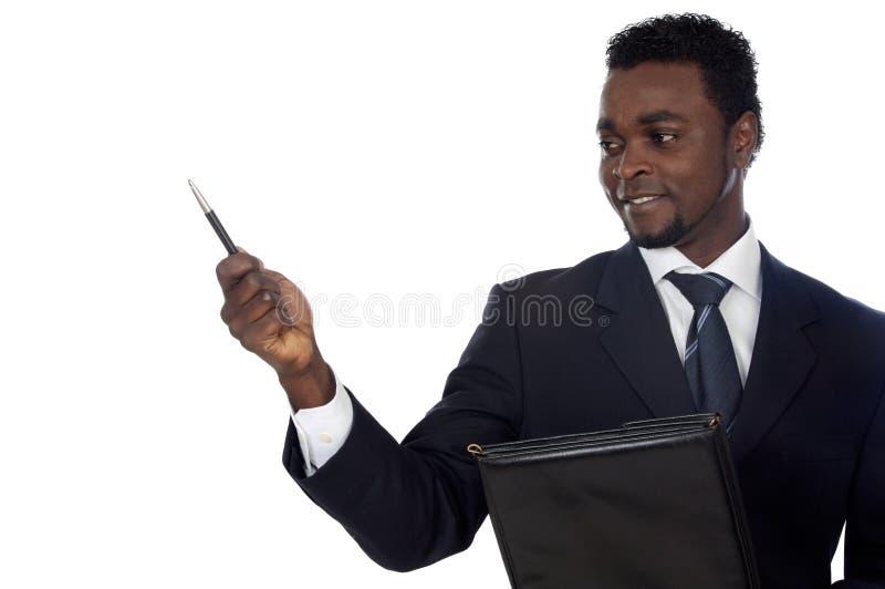 Uomo d'affari africano attraente fotografia stock