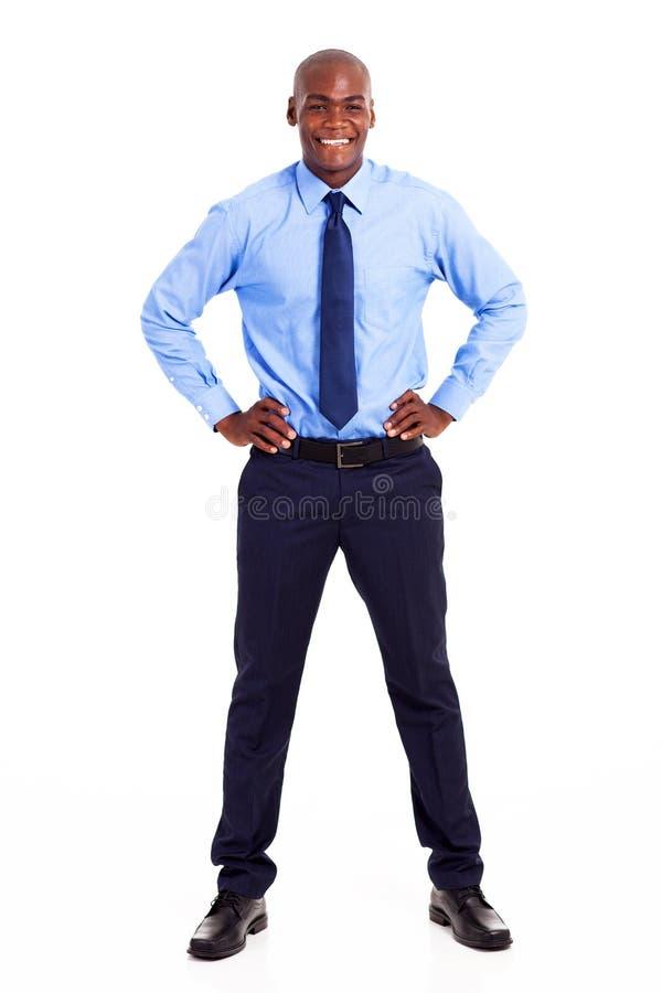 Uomo d'affari africano felice fotografia stock