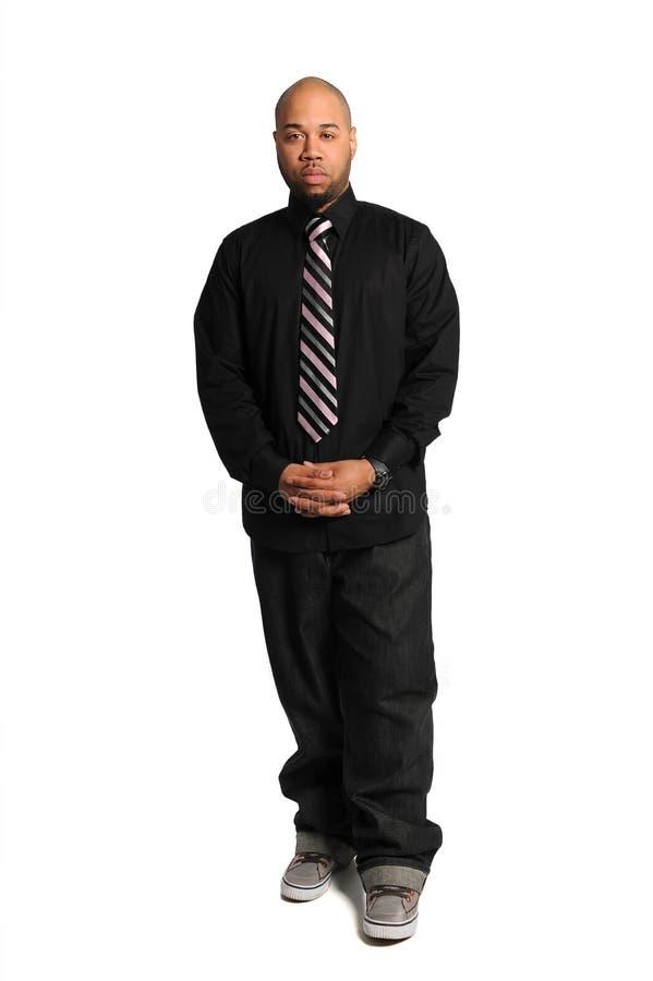 Uomo d'affari afroamericano Standing fotografia stock
