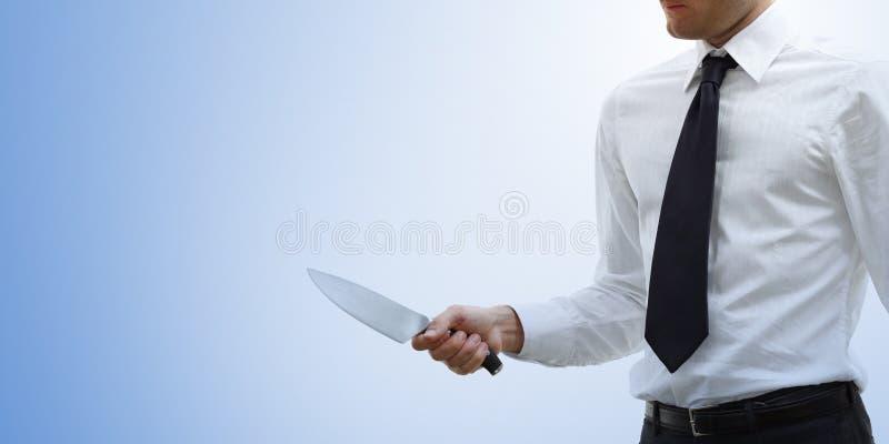 Uomo d'affari aggressivo ed arrabbiato fotografia stock libera da diritti