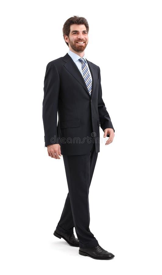 Uomo d'affari ambulante immagini stock