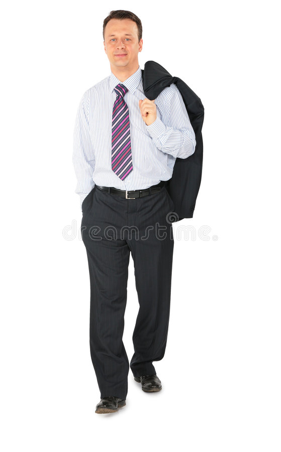Uomo d'affari ambulante fotografia stock libera da diritti