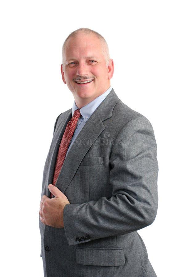 Download Uomo D'affari Amichevole - Convenzionale Fotografia Stock - Immagine di grigio, ufficio: 210362