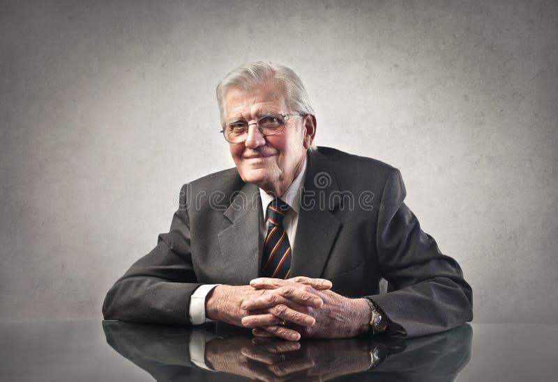 Uomo d'affari anziano fotografia stock