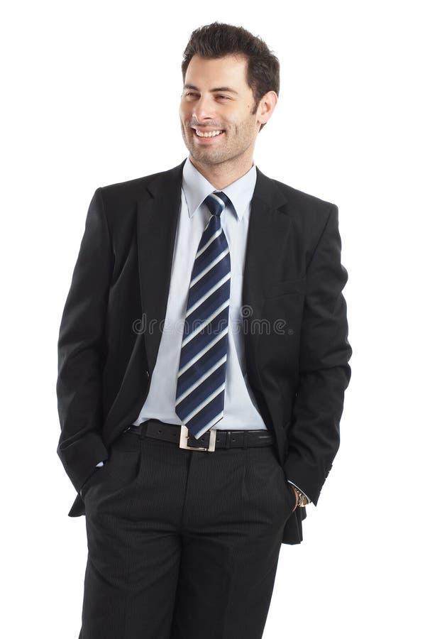 Uomo d'affari bello immagini stock