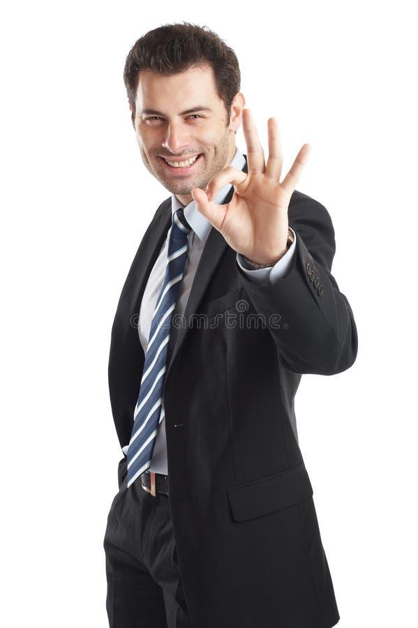 Uomo d'affari bello immagini stock libere da diritti