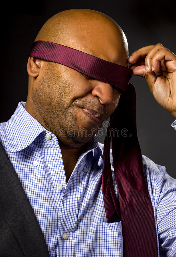 Uomo d'affari bendato fotografia stock libera da diritti