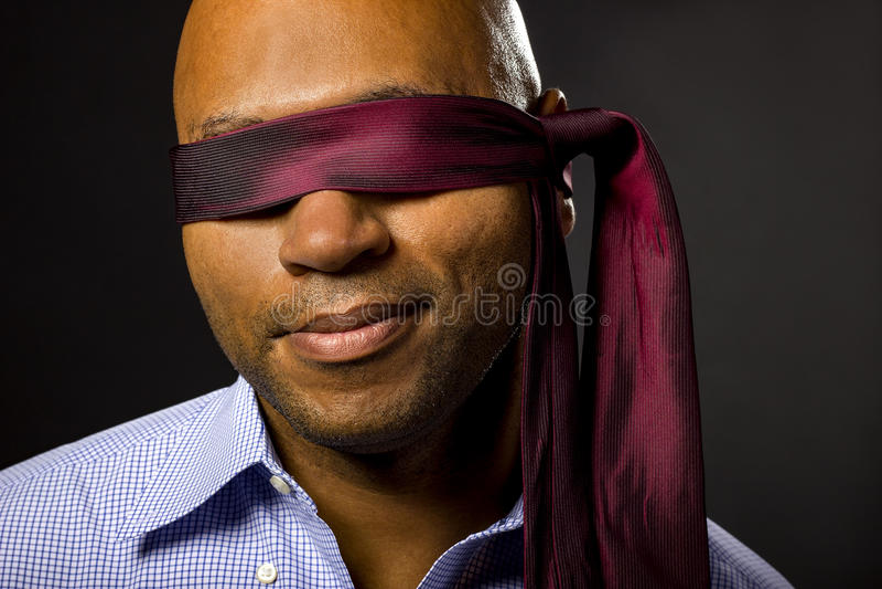 Uomo d'affari bendato fotografia stock