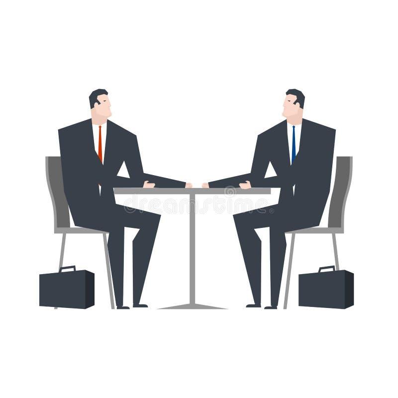 Uomo d'affari in caffè Cena di affari Vita dell'ufficio illustrazione di stock