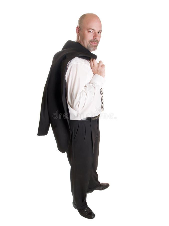 Uomo d'affari - cappotto relaxed sopra la spalla fotografia stock libera da diritti