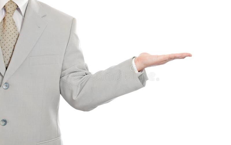 Uomo d'affari che dà gesto immagine stock