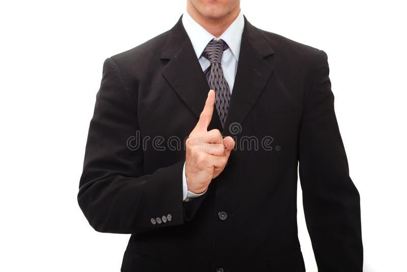Uomo d'affari che dà un discorso fotografia stock