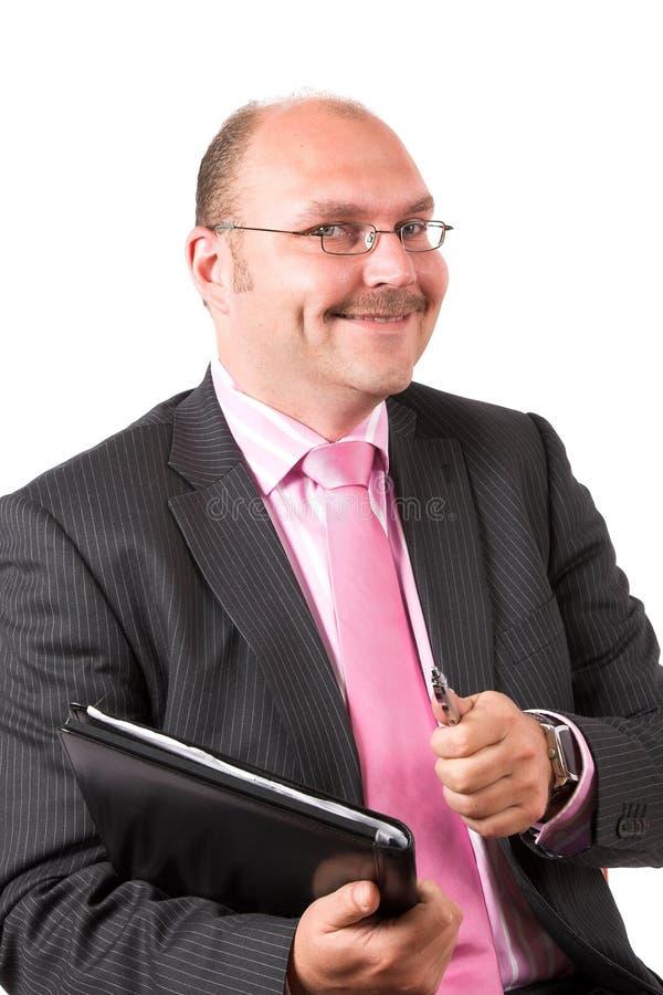 Uomo d'affari che fa un riuscito affare immagini stock