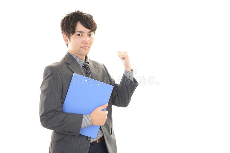 Download Uomo D'affari Che Gode Del Successo Immagine Stock - Immagine di allegro, azienda: 56883167