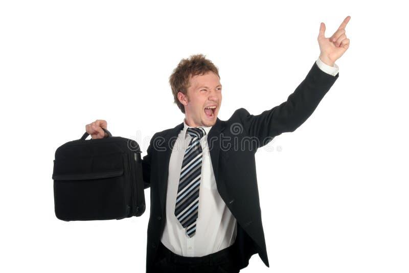 Uomo d'affari che grida fotografia stock libera da diritti
