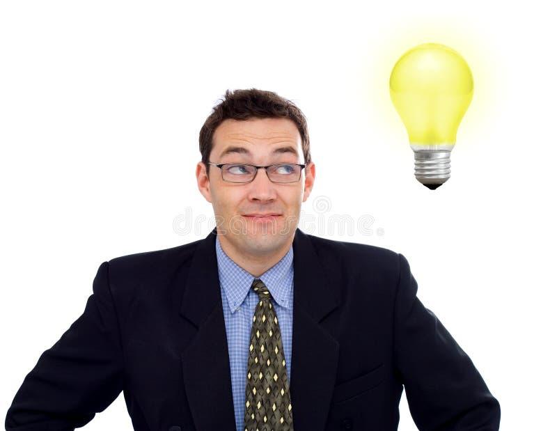 Uomo d'affari che ha un'idea fotografie stock