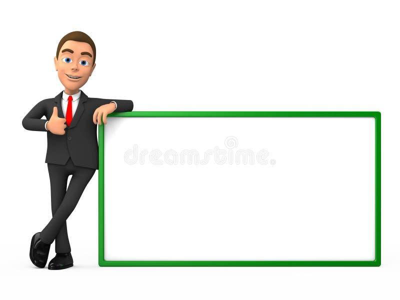 Uomo d'affari che mostra i pollici su fotografie stock libere da diritti