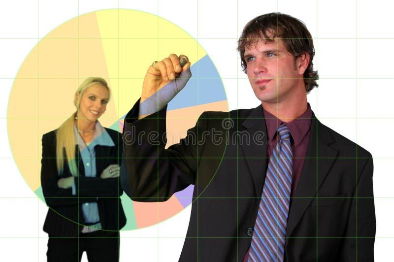 Uomo d'affari che progetta sviluppo fotografia stock