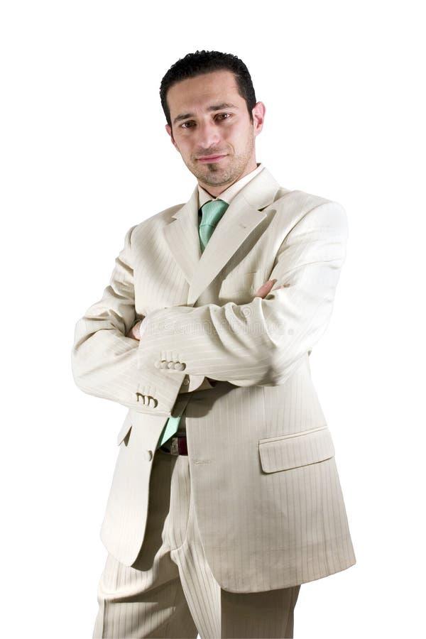 Download Uomo D'affari Che Propone Con Le Sue Braccia Attraversate Immagine Stock - Immagine: 450353