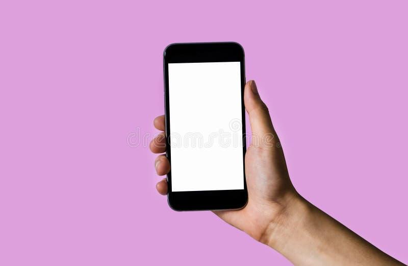 Uomo d'affari che usando smartphone fotografie stock