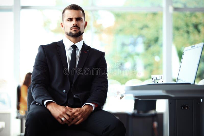 Uomo d'affari con i colleghi immagini stock