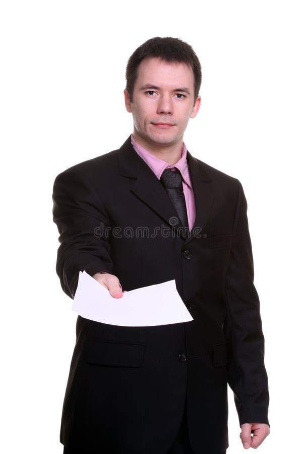 Uomo d'affari con i documenti immagine stock libera da diritti