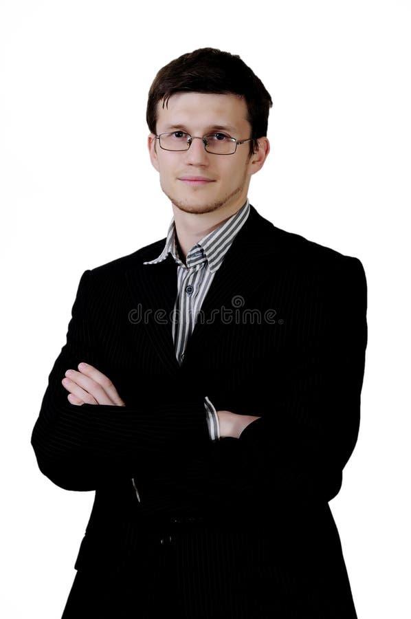 Uomo d'affari con i vetri immagine stock libera da diritti