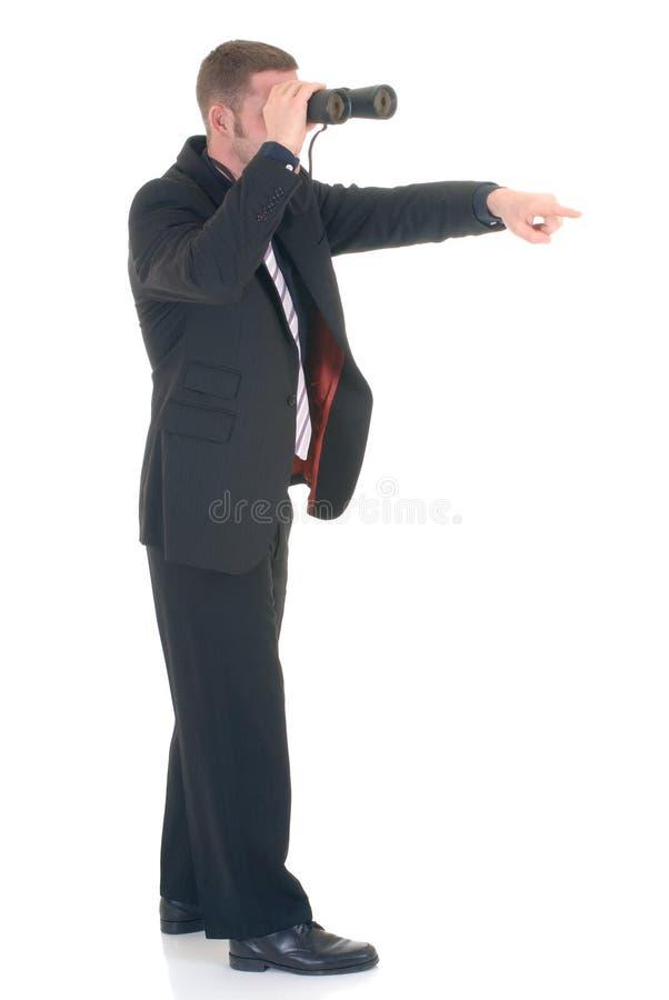 Download Uomo D'affari Con Il Binocolo Immagine Stock - Immagine di fashionable, bossy: 3880265
