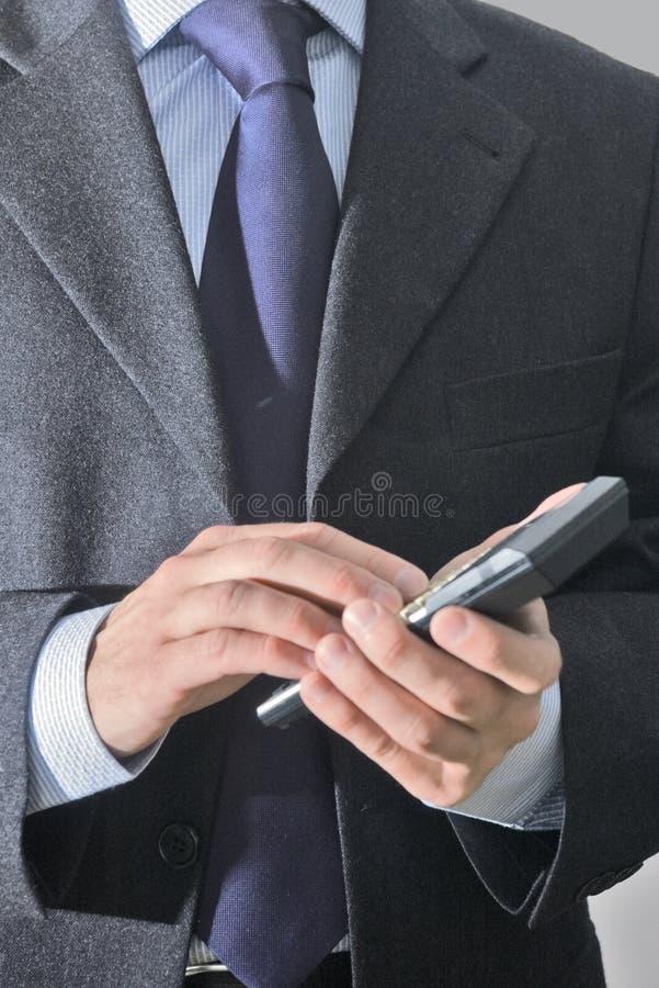 Uomo d'affari con il calcolatore immagini stock libere da diritti