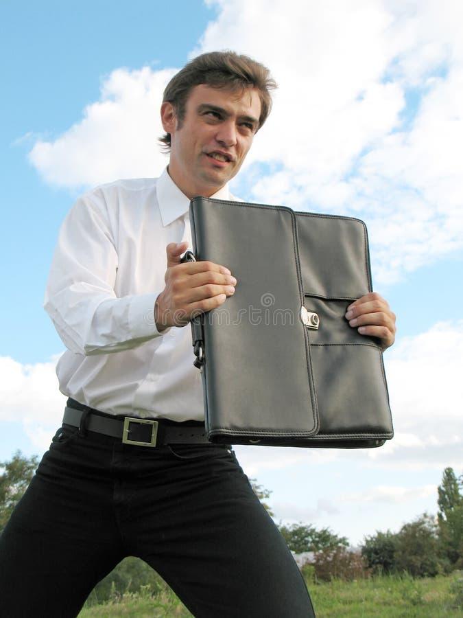 Uomo d'affari con il caso immagine stock libera da diritti
