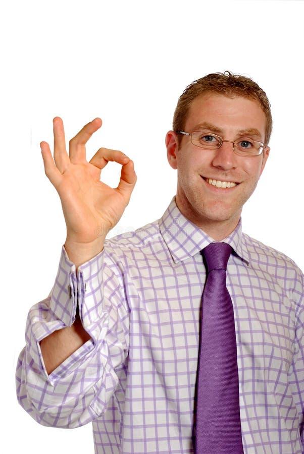 Download Uomo D'affari Con Il Gesto GIUSTO Immagine Stock - Immagine di consigliere, felice: 3891677