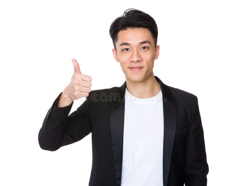 Download Uomo D'affari Con Il Pollice In Su Immagine Stock - Immagine di handsome, coreano: 55355661