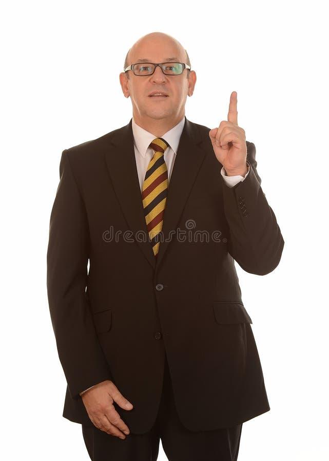 Uomo d'affari con l'idea fotografia stock libera da diritti