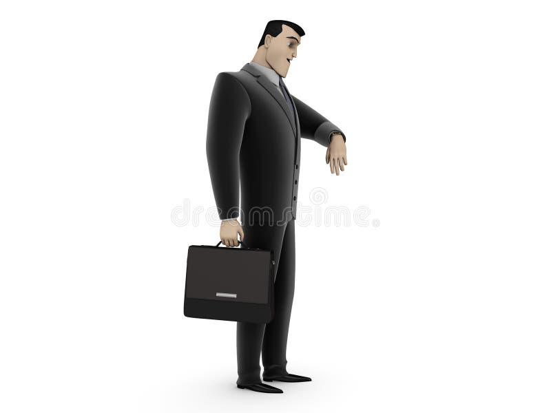 Uomo d'affari con la cartella illustrazione vettoriale