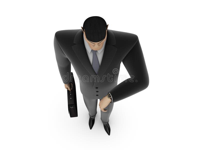 Uomo d'affari con la cartella royalty illustrazione gratis