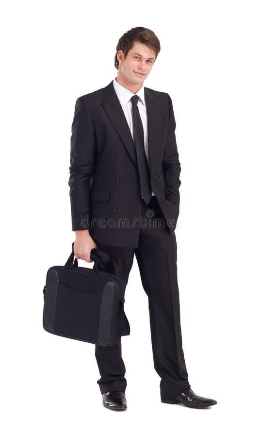 Uomo d'affari con la cartella fotografie stock