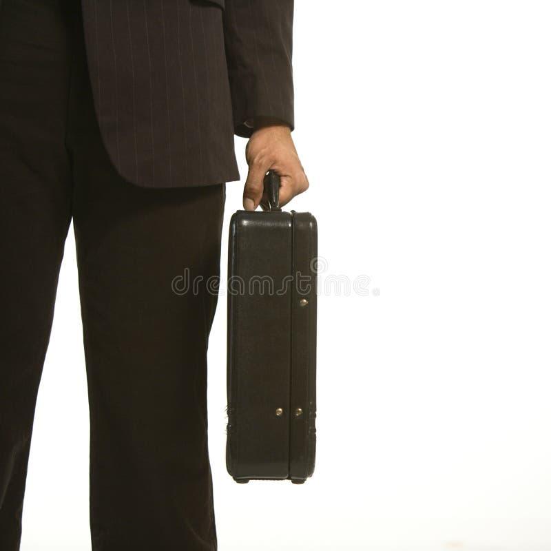 Uomo d'affari con la cartella. fotografia stock libera da diritti