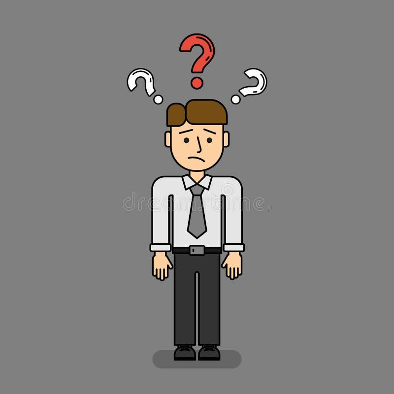 Uomo d'affari confuso isolato royalty illustrazione gratis