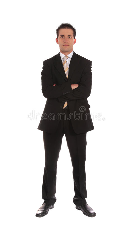 Uomo d'affari d'aspirazione fotografia stock