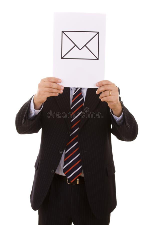 Uomo d'affari del email immagine stock libera da diritti
