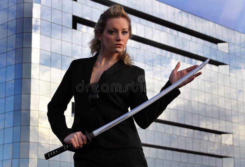 Uomo d'affari del samurai fotografia stock libera da diritti