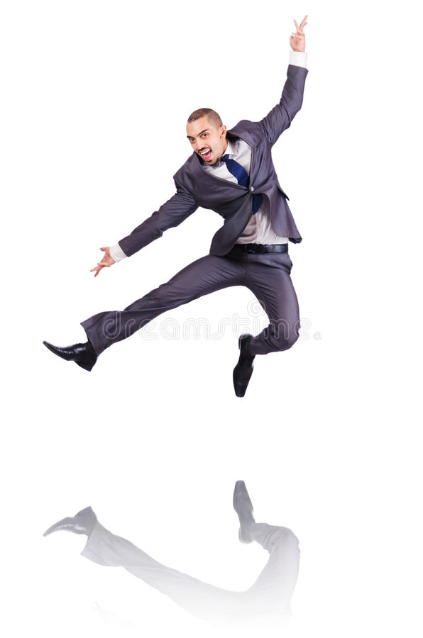 Uomo D Affari Di Dancing Immagini Stock Libere da Diritti