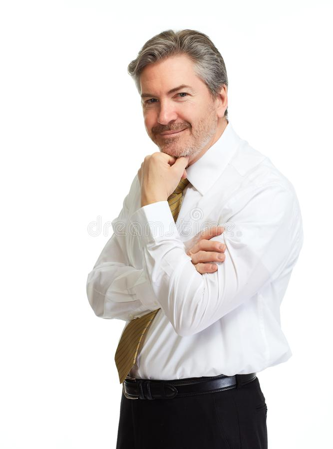 Uomo d'affari di pensiero fotografie stock