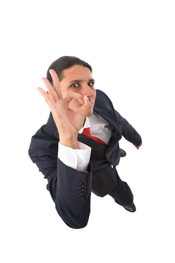 Uomo d'affari diabolico fotografia stock libera da diritti